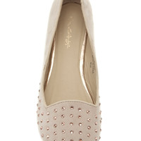 Eternity Nude Diamante Slipper - Shoes - Miss Selfridge