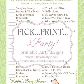 baby shower game disney love songs from madebyaprincess my