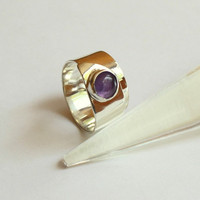 Loop  Amethyst Ring by meltemsem on Etsy