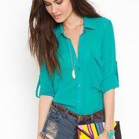 Buttoned Up Blouse in What&#x27;s New at Nasty Gal