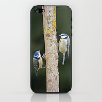 Blue Tit ( Cyanistes caeruleus) iPhone & iPod Skin by Fran Walding | Society6