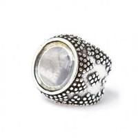low luv by erin wasson - magnifier ring (silver plated) - Low Luv | 80&#x27;s Purple