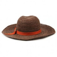 brixton - women&#x27;s alana straw hat (brown) - Brixton | 80&#x27;s Purple
