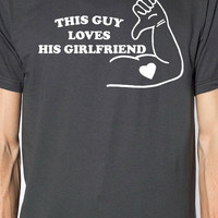This Guy Loves His Girlfriend Mens T Shirt Anniversary Gift Valentines Wedding Gift for Boyfriend