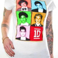 ROCKWORLDEAST - One Direction, Girls T-Shirt, Watercolor Frame