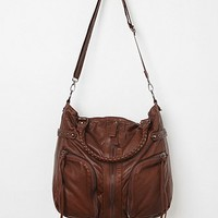 Deena &amp; Ozzy Zip-Stitch Moto Satchel