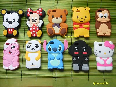 1X 3D COLLECTION MICKEY MINNIE STITCH BEAR MONKEY KITTY NEW IPHONE 5 CASE COVER