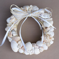 Seashell wreath  best of nature by JustShellin on Etsy