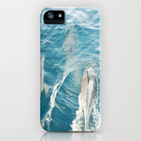 Dolphins Come Play  iPhone Case by Bree Madden  | Society6