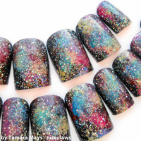 ON SALE Nebula Outer Space Galaxy Fake Nails