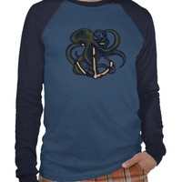 Steampunk Octopus Over Anchor from Zazzle.com