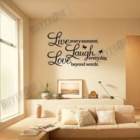 Words Letters Removable Window Door Art Wall Paper Mural Decal Sticker