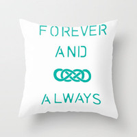 Infinity Squared  Throw Pillow by Candace Fowler | Society6