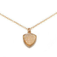 Aria Halo Druzy Triangle Pendant by Dara Ettinger | Charm & Chain