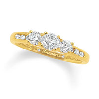 1/2 CT. T.W. Diamond Three Stone Past Present Future Ring in 14K Gold - View All Rings - Zales
