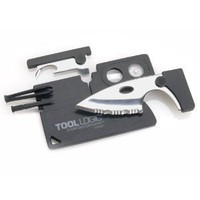 Tool Logic CC1SB Credit Card Companion with 1/2-Inch Knife, Translucent Black