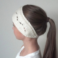 BECKY - Knit Turban Headband - Headwrap - CREAM - (more colors available)