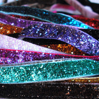 NonSlip Thin Glitter Headband for Running or by EpicInspiration