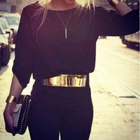 UberChic Closet — Flat Metal Fold Belt