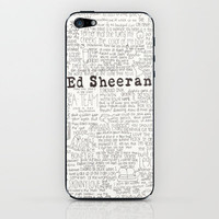 ed sheeran iPhone &amp; iPod Skin by CalmOceans | Society6