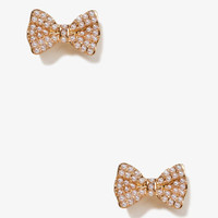 Pearlescent Bow Studs | FOREVER21 - 1021045894