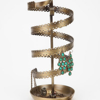 Spinning Ribbon Jewelry Stand- Bronze One