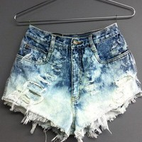 High waisted denim short...