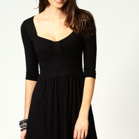 Polly Bow Front Skater Dress