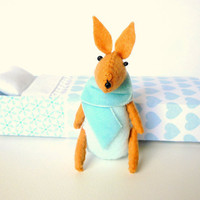 Easter Bunny plush aqua by atelierpompadour on Etsy