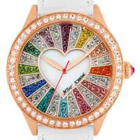Betsey Johnson Multicolored Crystal Dial Watch | Nordstrom