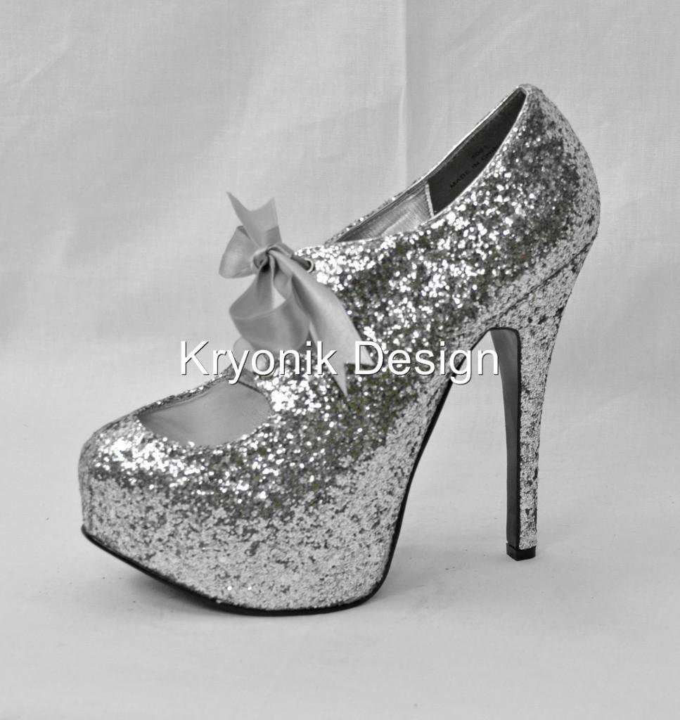 Bordello shoes Teeze-10G silver glitter from krazykel2006 ...