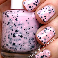Chubby Bubby (Re-formulated): Custom-Blended Glitter Nail Polish / Lacquer (One regular size bottle 15 ml size)