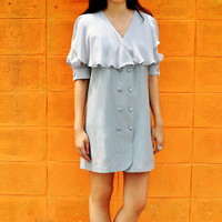 Peter Pantry Gray Wide Collar Dress