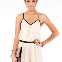 Crystal Claire Romper in Beige :: tobi