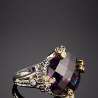 ideeli | ADAM MARC Pave Accent Stone Ring