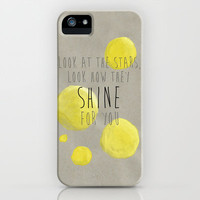Yellow, Coldplay iPhone Case by gabsnisen | Society6