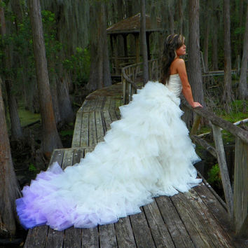Indigo Princess Ombre Purple Bridal Couture Ricky Lindsay Gown Fashion Dress Wedding