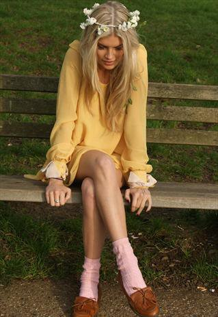 Lemon Bow Cuff | Never Fully Dressed | ASOS Marketplace