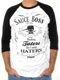 ROCKWORLDEAST - Epic Meal Time, Baseball Jersey Shirt, Sauce Boss