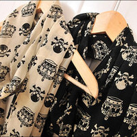 Vixen Boutique  Skull/Crown Scarf