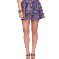 Abstract Tribal Print Skirt | FOREVER21 - 2074201083