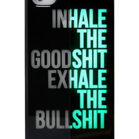 Yamamoto Industries INHALEEXHALE GLOWINTHEDARK iPhone 44S Case