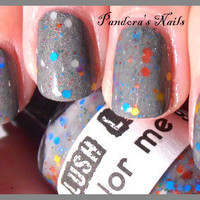 Color Me Gray:  Custom-Blended Glitter Nail Polish / Lacquer