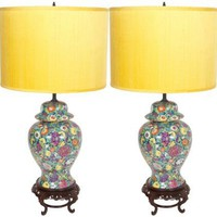 One Kings Lane - Chic Shop by Hillary Thomas - 1940s Flower Lamps, Pair
