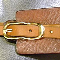 brown leather obi style woman's belt