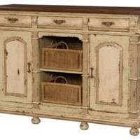 One Kings Lane - Heirloom Inspiration - Three Drawer Buffet with Baskets