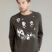 Sweatshirt - Tiger on Alternative Apparel Unisex Eco Organic Fleece Sweater