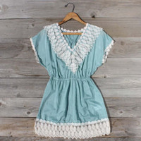 Openwork Blouse In Mint, Sweet Country Inspired Clothing