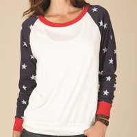 COOL Custom Red White and Blue with Stars Pullover Very Fashionable and Cool