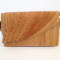 Vintage Eel Skin Handbag by ModernFiction on Etsy